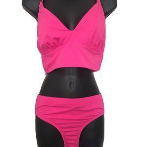 Eco Beach  Hot Pink 2 Piece Top XL Bottom L Miss M